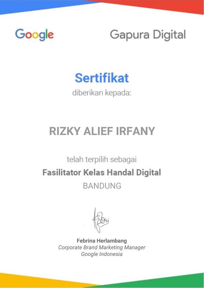 Terpilih sebagai fasilitator Gapura Digital Bandung
