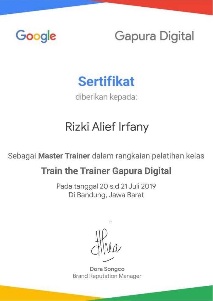 Terpilih sebagai master trainer Gapura Digital Bandung